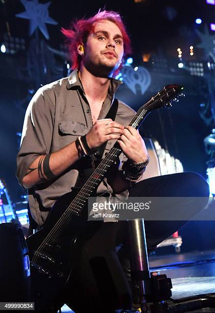 Musician Michael Clifford of 5 Seconds of Summer performs onstage during 1027 KIIS FM's Jingle Ball 2015 Presented by Capital One at STAPLES CENTER...