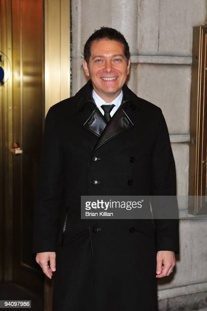 """Musician Michael Feinstein attends the Broadway opening night of """"Race"""" at The Ethel Barrymore Theatre on December 6, 2009 in New York City."""