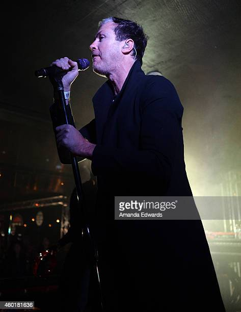 Musician Michael Fitzpatrick of the band Fitz and the Tantrums performs at Alt 987's annual 'Altimate Roof Top Christmas Party' at The Loft and...