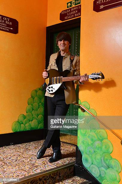 Musician Michael Gagliano dressed as John Lennon as part of the Let It Be musical at the Savoy Theatre in London February 22 2013