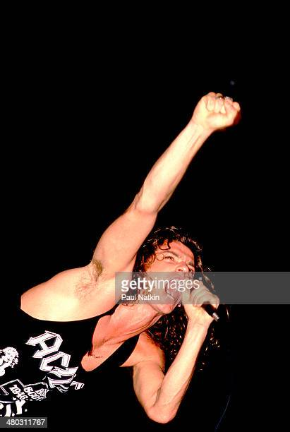 Musician Michael Hutchence of the band INXS performs onstage Miami Florida March 1 1988