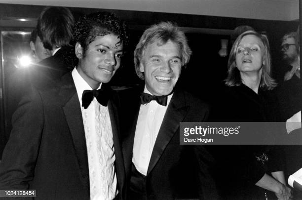 Musician Michael Jackson and comedian Freddie Starr pose for a photograph at The Brit Awards on 8th February 1983 London