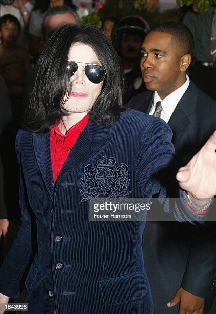 Musician Michael Jackson arrives at his civil trial in Santa Maria Superior Court November 14 2002 in Santa Maria California The artist is being sued...