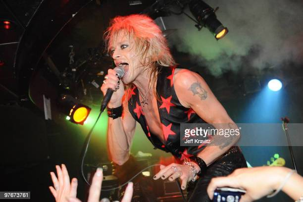 Musician Michael Monroe performs at the Viper Room on March 12 2010 in West Hollywood California