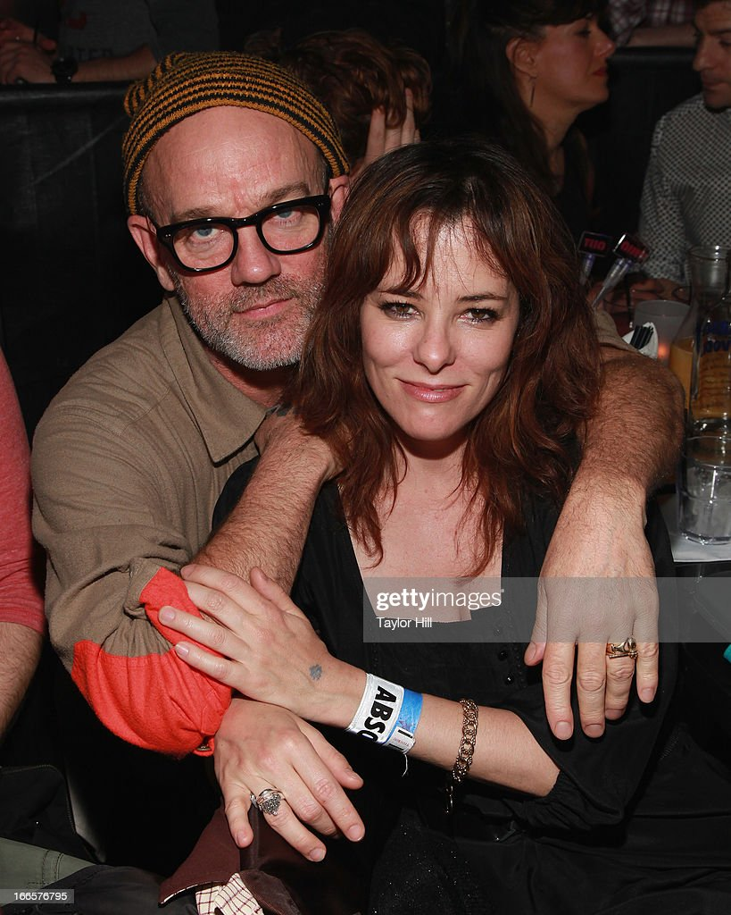 Musician Michael Stipe and actress Parker Posey attend Beth Ditto's concert at XL Nightclub on April 13, 2013 in New York City.