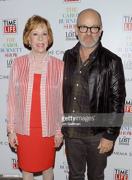 """Musician Michael Stipe and actress/comedian Carol Burnett attend """"The Carol Burnett Show: The Lost Episodes"""" screening hosted by Time Life and The..."""