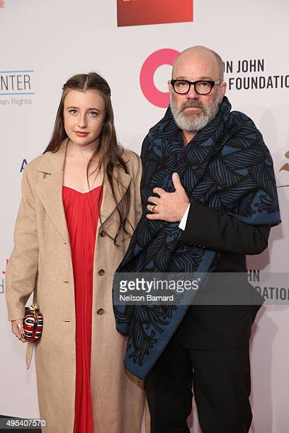 Musician Michael Stipe and guest attend Elton John AIDS Foundation's 14th Annual An Enduring Vision Benefit at Cipriani Wall Street on November 2...