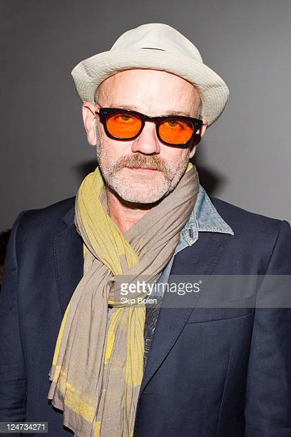 Musician Michael Stipe attends the Patrick Ervell Spring 2012 fashion show during Mercedes-Benz Fashion Week at Milk Studios on September 11, 2011 in...