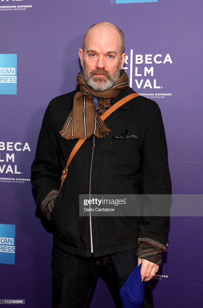 Musician Michael Stipe attends the premiere of 'Lotus Eaters' during the 2011 Tribeca Film Festival at SVA Theater on April 21, 2011 in New York City.