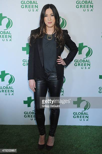 Musician Michelle Branch arrives at the Global Green USA's 11th Annual Pre-Oscar Party at Avalon on February 26, 2014 in Hollywood, California.