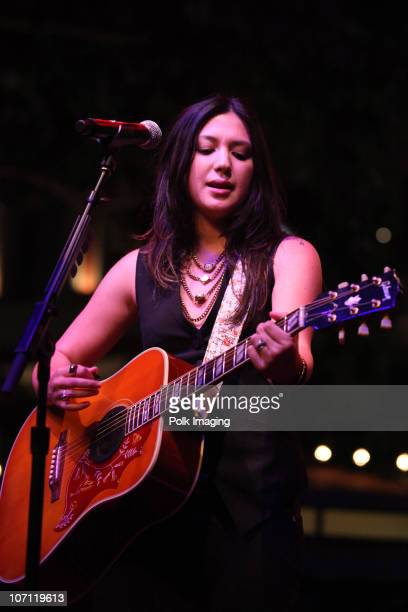 Musician Michelle Branch performs during The Donate Life Summer Concert Series at The Green at The Americana at Brand in Glendale, CA on August 19,...