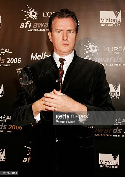 Musician Mick Harvey poses in the awards room with the award for Best Original Music Score at the L'Oreal Paris AFI 2006 Industry Awards at the...
