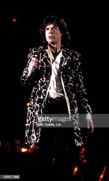 Musician Mick Jagger performs at Rolling Stones Voodoo Lounge Tour Concert on October 21 1994 at the Rose Bowl in Pasadena California