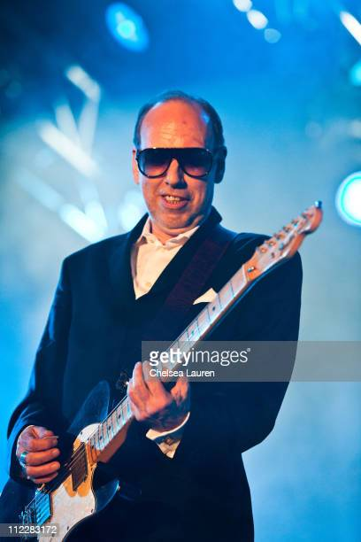 Musician Mick Jones of Big Audio Dynamite performs at day 2 of the 2011 Coachella Valley Music & Arts Festival at The Empire Polo Club on April 16,...