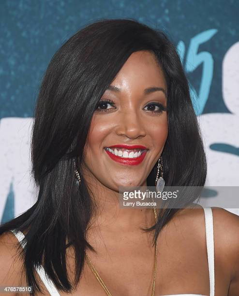 Musician Mickey Guyton attends the 2015 CMT Music awards at the Bridgestone Arena on June 10 2015 in Nashville Tennessee
