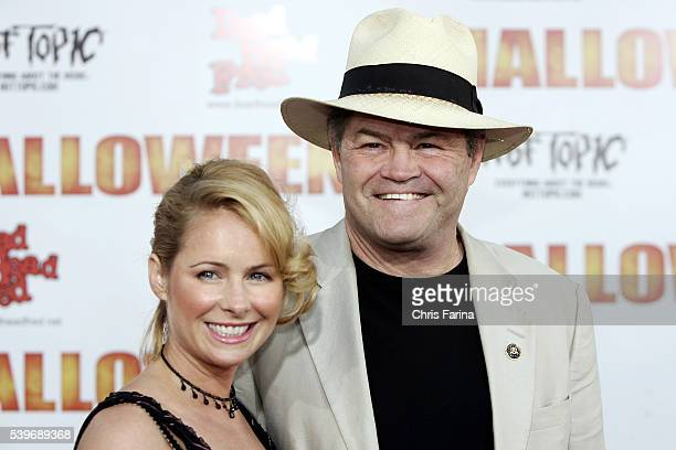 Musician Micky Dolenz and daughter Ami Dolenz attend the world premiere of Halloween at the Grauman's Chinese Theatre in Hollywood