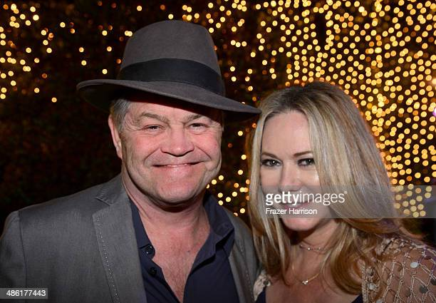 Musician Micky Dolenz and Donna Quinter attend the 8th Annual BritWeek Launch Party at a private residence on April 22 2014 in Los Angeles California