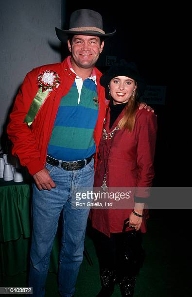 Musician Micky Dolenz of The Monkees and daughter actress Ami Dolenz attend 59th Annual Hollywood Christmas Parade on November 25 1990 in Hollywood...