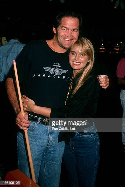Musician Micky Dolenz of The Monkees and daughter actress Ami Dolenz attend 'Children's Treasure Chest Benefit' on August 19 1990 at Q's Billiard...