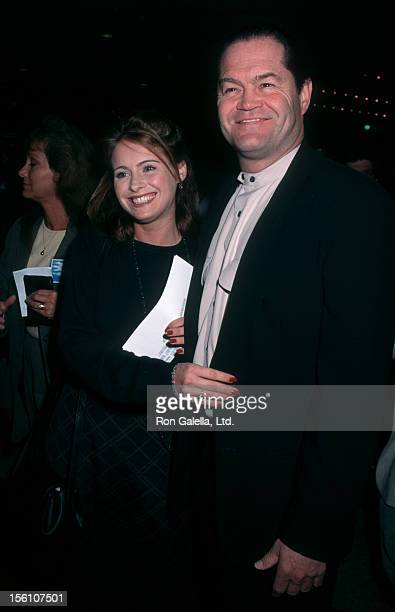 Musician Micky Dolenz of The Monkees and daughter actress Ami Dolenz attend the premiere of 'Diabolique' on March 20 1996 at the Cineplex Odeon...