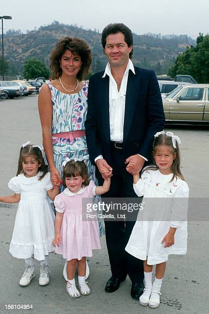 Musician Micky Dolenz of The Monkees wife Trina Dow and daughters Georgeia Emily and Charlotte attending 'Hollywood 100 ProCelebrity Polo Matches' on...