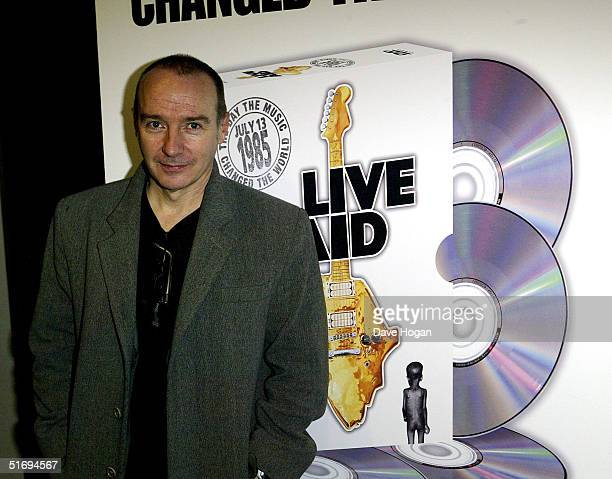 Musician Midge Ure arrives at the premiere screening of the new fourdisc DVD featuring 10 hours of footage from the historic charity concert Live Aid...