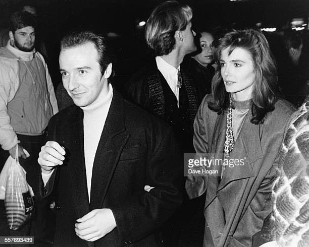 Musician Midge Ure of the band 'Ultravox' and his wife Annabel Giles attending a charity party in aid of the Princes Trust held by Princess Diana and...