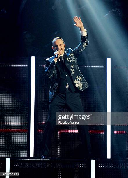 Musician Miguel Bose performs onstage during The 14th Annual Latin GRAMMY Awards at the Mandalay Bay Events Center on November 21 2013 in Las Vegas...
