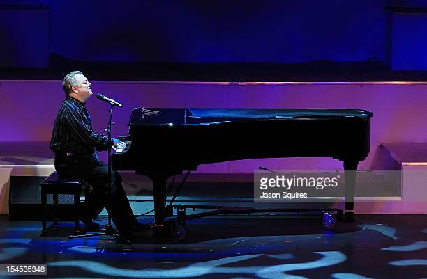 Musician Mike Cathcart attends a memorial service for entertainer Andy Williams on October 21 2012 in Branson Missouri Williams died on September 25...