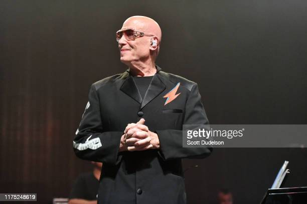 Musician Mike Garson former member of David Bowie's touring band performs onstage during the second annual Above Ground concert benefiting MusiCares...