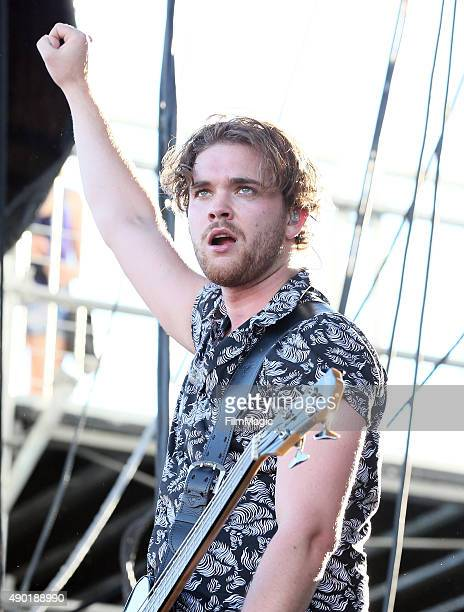 Musician Mike Kerr of Royal Blood performs onstage during day 2 of the 2015 Life is Beautiful festival on September 26 2015 in Las Vegas Nevada