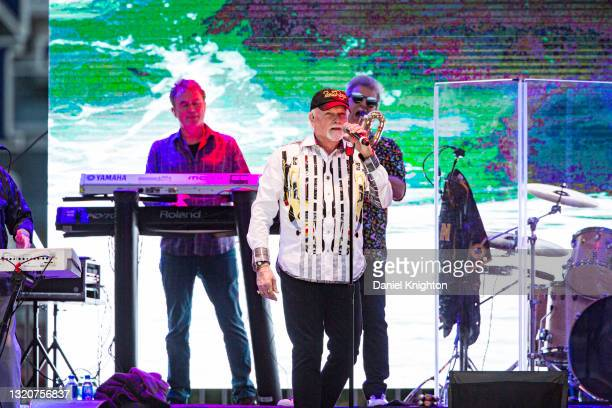 Musician Mike Love of The Beach Boys performs on stage at PETCO Park on May 29, 2021 in San Diego, California.