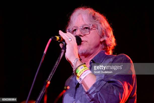 Musician Mike Mills from the band REM performs onstage during the Big Star Third tribute concert at Central Presbyterian Church on March 17 2017 in...