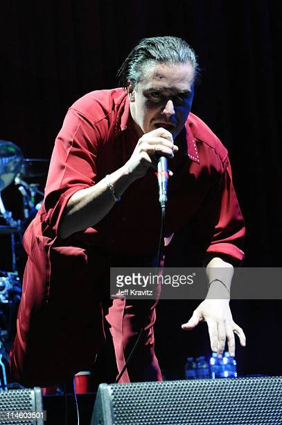 Musician Mike Patton of Faith No More performs during Day 2 of the Coachella Valley Music & Art Festival 2010 held at the Empire Polo Club on April...