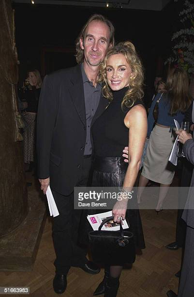 Musician Mike Rutherford and wife Angie at the CLIC Charity Auction hosted by Eddie and Marie Jordan at Christie's on 22nd October 2001 in London