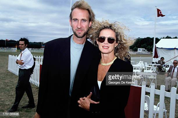 Musician Mike Rutherford of Genesis and his wife Angie Rutherford in 1990 ca in England