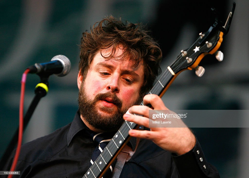 Musician Mike Savino of Tall Tall Trees performs with Kishi Bashi at SummerStage at Rumsey Playfield, Central Park on September 20, 2012 in New York City.