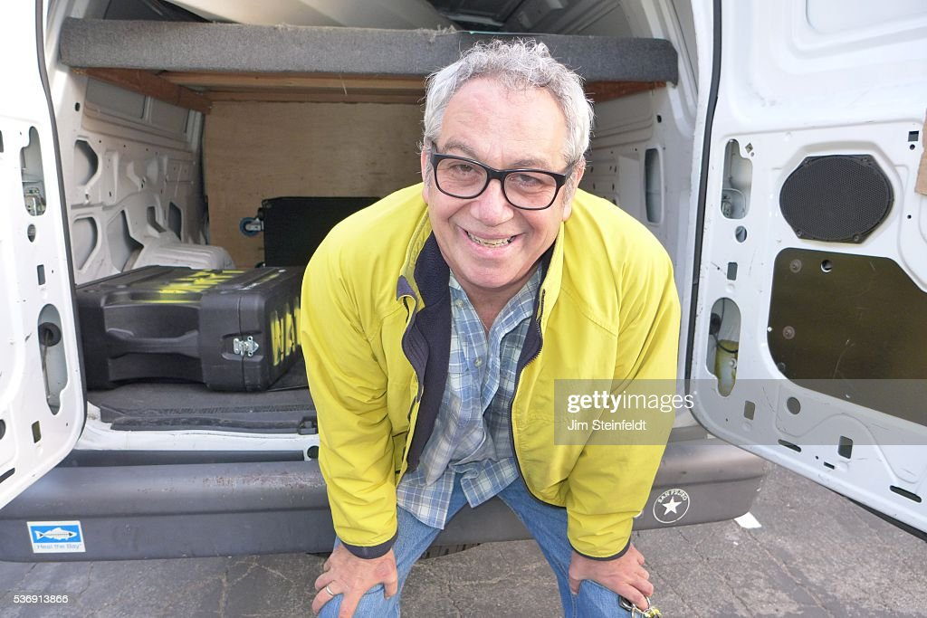 Musician Mike Watt poses for a portrait at Fonogenic Studios in Van Nuys, California on May 23, 2016.