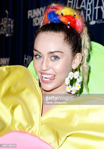 Musician Miley Cyrus attends Hilarity for Charity's Annual Variety Show James Franco's Bar Mitzvah benefitting the Alzheimer's Association presented...