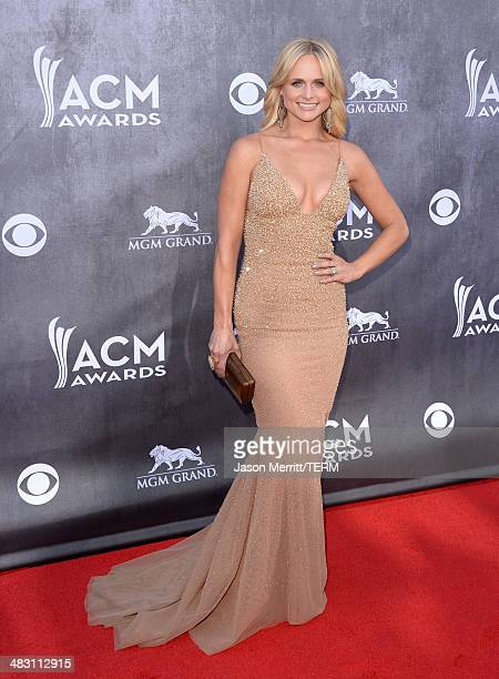 Musician Miranda Lambert attends the 49th Annual Academy Of Country Music Awards at the MGM Grand Garden Arena on April 6 2014 in Las Vegas Nevada