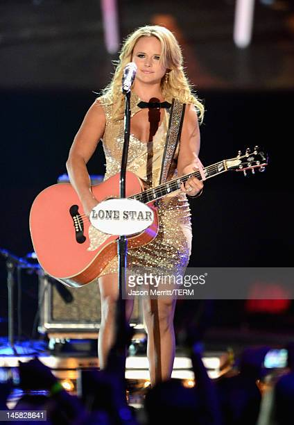 Musician Miranda Lambert performs onstage at the 2012 CMT Music awards at the Bridgestone Arena on June 6 2012 in Nashville Tennessee