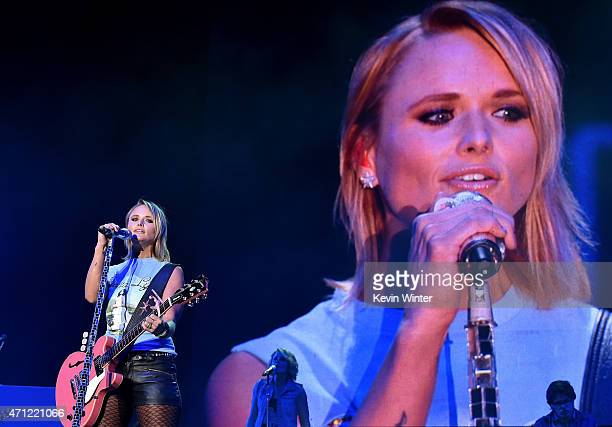 Musician Miranda Lambert performs onstage during day two of 2015 Stagecoach California's Country Music Festival at The Empire Polo Club on April 25...