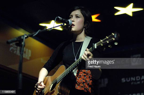 Musician Missy Higgins performs at the Music Cafe during the 2008 Sundance Film Festival on January 25 2008 in Park City Utah