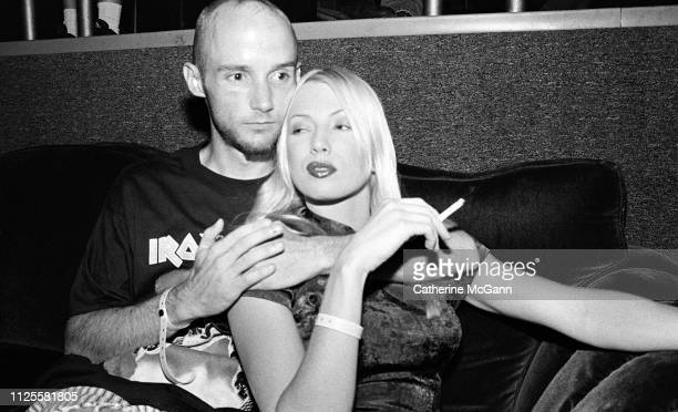 Musician Moby and actress Traci Lords pose for a portrait at Club USA in 1995 in New York City New York