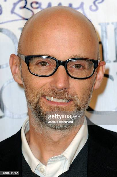 Musician Moby arrives at the Avalon for Kings of Chaos Tokyo Celebrates The Dolphin Benefit Concert on November 18, 2013 in Hollywood, California.