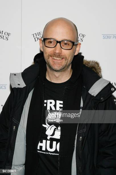 """Musician Moby attends the premiere of """"The Imaginarium of Doctor Parnassus"""" at the Crosby Street Hotel on December 7, 2009 in New York City."""