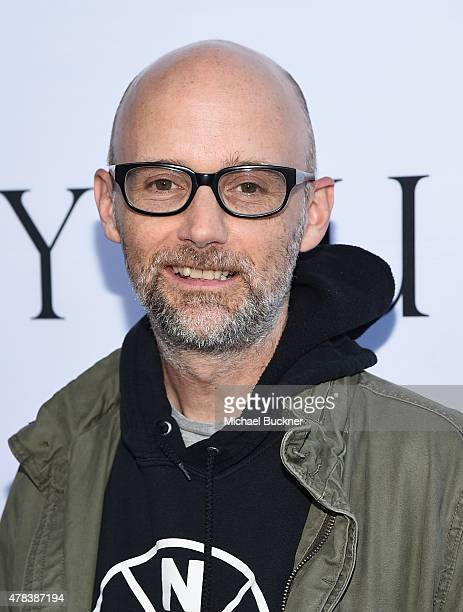 Musician Moby attends the world premiere of UNITY at the DGA Theater on June 24 2015 in Los Angeles California
