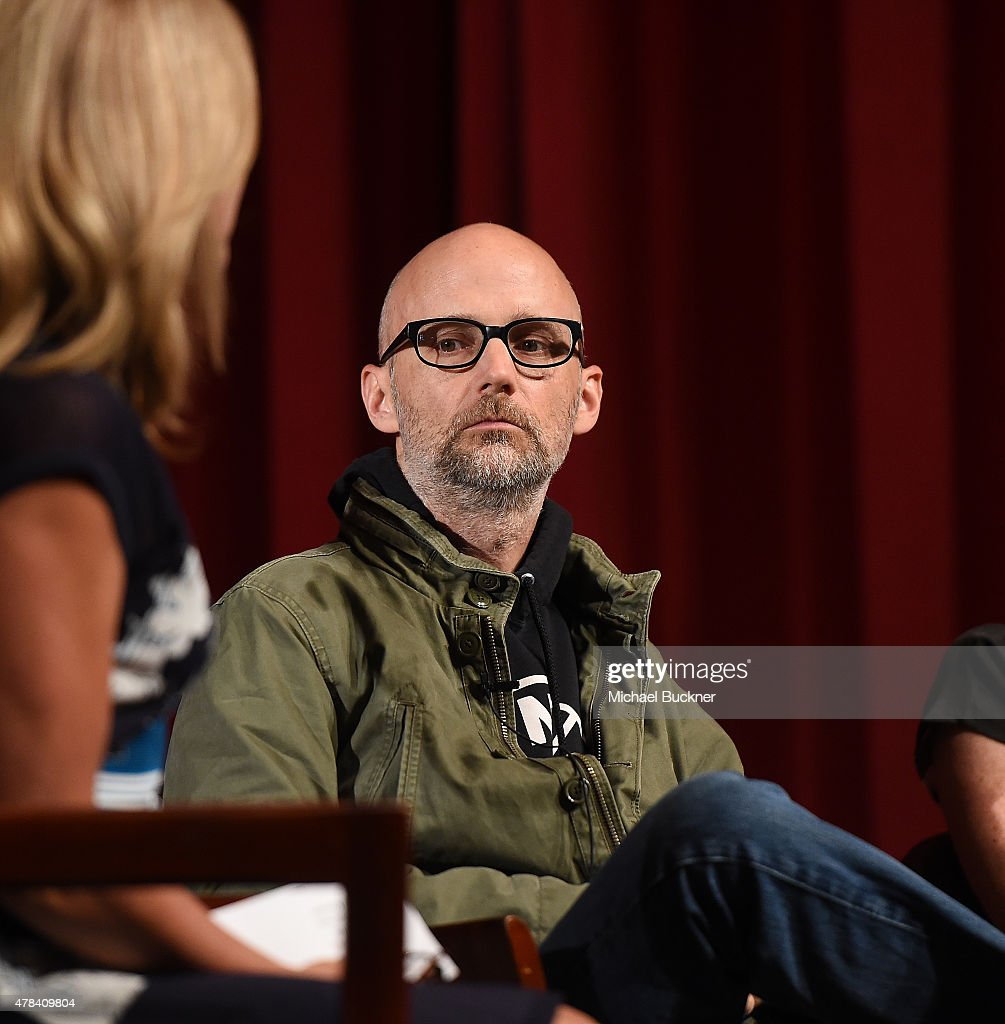 Musician Moby attends the world premiere of 'UNITY' at the DGA Theater on June 24, 2015 in Los Angeles, California.