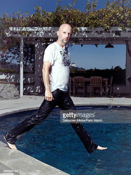 Musician Moby is photographed at home for Paris Match on June 27 2013 in Los Angeles California