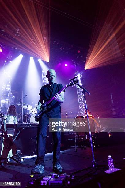 Musician Moby performs on stage at the Fonda Theatre on October 2 2013 in Los Angeles California